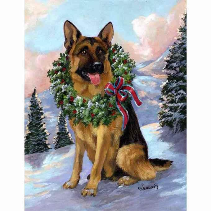 German Shepherd Christmas