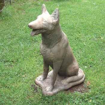 German Shepherd Garden Statue