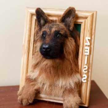 German Shepherd Picture Frame