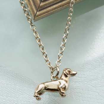 Gold Dachshund Necklace
