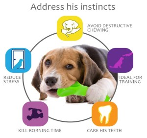 oneisall Dog Toys for Aggressive Chewers,Indestructible Pet Chew Toys Bone for Puppy Dogs