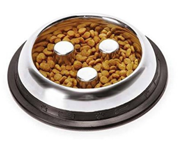 Pro Select Classic Stainless Steel Slow Feeder Dog Bowl review