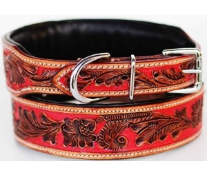 CHALLENGER Dog Collar, Red Inlay