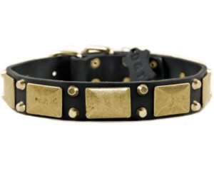 Dean & Tyler THE ANTIQUE Dog Collar, Black