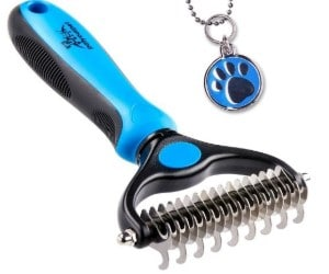 Pet Grooming Tool - 2 Sided Undercoat Rake and Dematter review