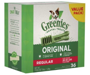 Greenies Original Regular Natural Dental Dog Treats review