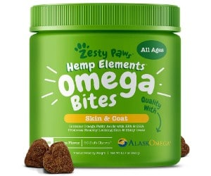 Zesty Paws Omega 3 Alaskan Fish Oil Chew Treats for Dogs review
