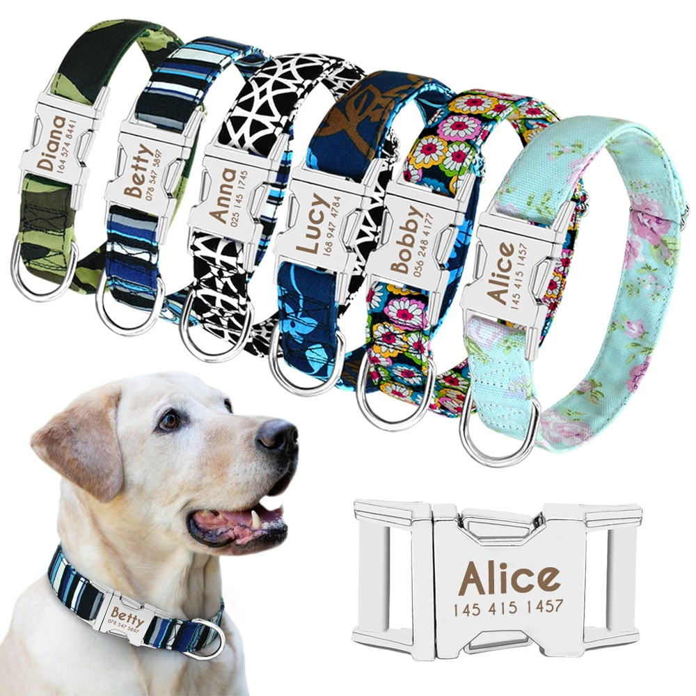 Dog Personalized Nylon Collar