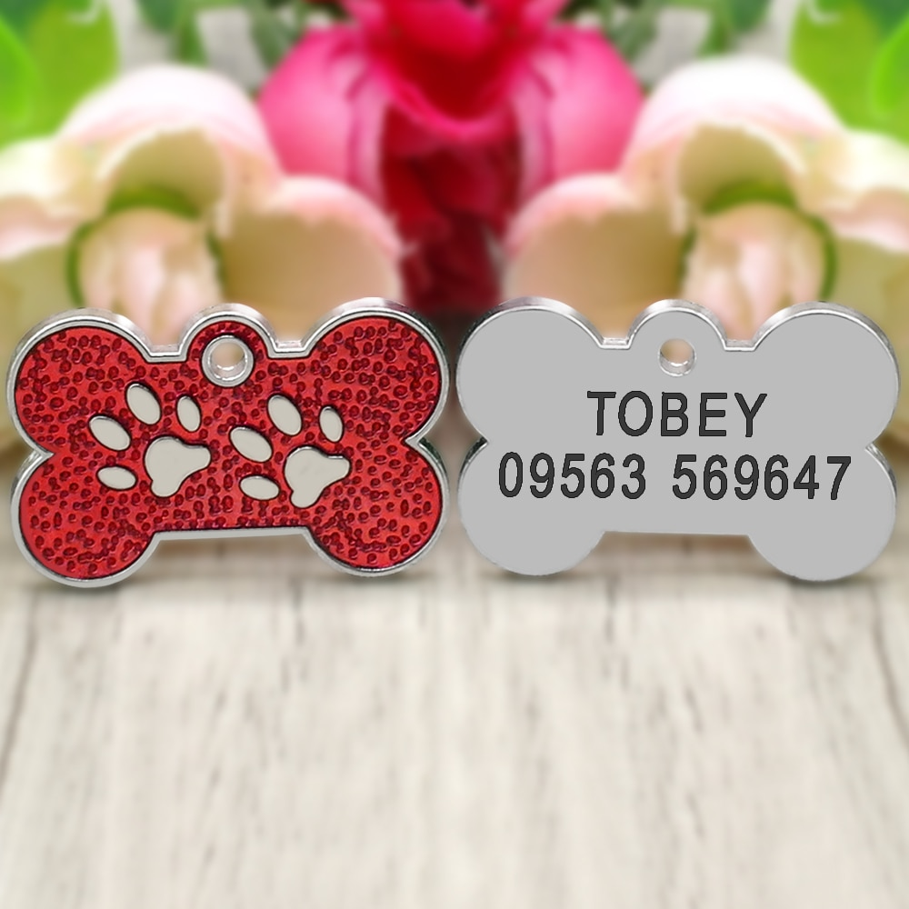 Dog Paw Shaped ID Tag