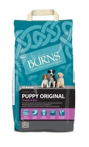 burns puppy food
