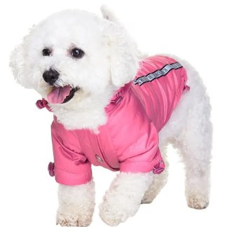 pink raincoat for dogs