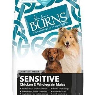 burns sensitive dog food