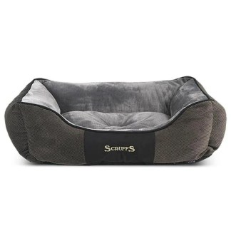 grey velvet dog bed