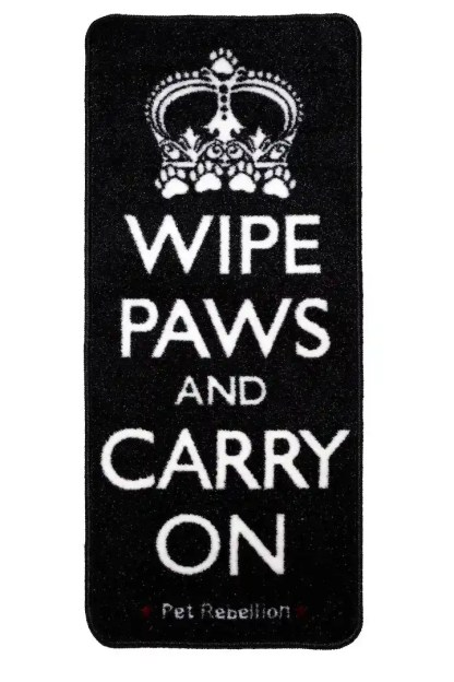 wipe paws and carry on
