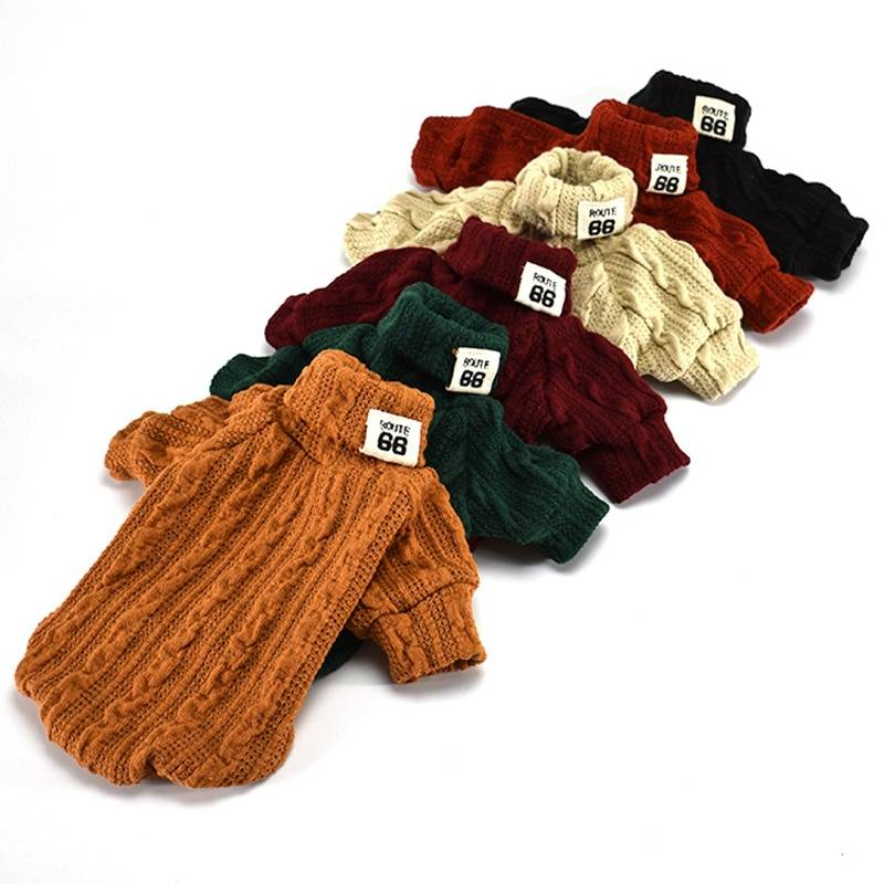 Cute Knitted Dog Sweater