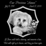 12-x-12-Lazer-Gifts-Personalized-If-Tears-Could-Build-A-Stairway-Black-Granite-Pet-Memorial-Marker-Style-Aimee-0
