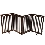 Arf-Pets-Free-Standing-Wood-Dog-Gate-with-Walk-Through-Door-Expands-Up-to-80-Wide-315-High-Bonus-Set-of-Foot-Supporters-Included-Upgraded-2019-Stronger-Model-0-0