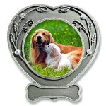 BANBERRY-DESIGNS-Dog-Photo-Frame-Pewter-Finished-Heart-Shaped-Frame-with-Crystals-Pet-Remembrance-Frame-Dog-Picture-Frame-Pet-Memorial-0