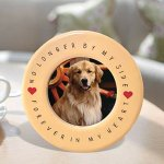 BANBERRY-DESIGNS-Pet-Memorial-Frame-and-Ornament-No-Longer-by-My-Side-4-X-6-Ceramic-Plaque-with-Matching-Round-Circle-Ornament-Pet-Remembrance-0-0