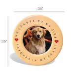 BANBERRY-DESIGNS-Pet-Memorial-Frame-and-Ornament-No-Longer-by-My-Side-4-X-6-Ceramic-Plaque-with-Matching-Round-Circle-Ornament-Pet-Remembrance-0-2
