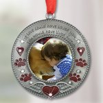 BANBERRY-DESIGNS-in-Loving-Memory-Pet-Ornament-Pet-Memorial-Christmas-Photo-Ornament-Furever-in-My-Heart-Red-Hearts-with-Angel-Wings-and-Paw-Prints-Pet-Sympathy-Gifts-Loss-of-a-Pet-0-1