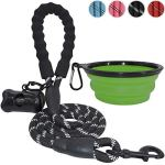 BARKBAY-5-Feet-Reflective-Dog-Rope-Leash-with-Comfortable-Padded-Handle-Strong-Durable-Nylon-for-Medium-Large-Dogs-0