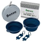 Bonza-Large-Collapsible-Dog-Bowls-Twin-Pak-5-Cup-7-Diameter-Portable-Dog-Water-Bowls-for-Medium-to-Large-Pets-Lightweight-Sturdy-Food-Safe-Premium-Quality-Travel-Pet-Bowl-Solution-0