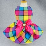Fitwarm-Vintage-Plaid-Pet-Clothes-Dog-Dress-Ribbon-Dog-Vest-Shirts-Apparel-0-0