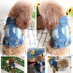 SILD-Pet-Clothes-Dog-Jeans-Jacket-Cool-Blue-Denim-Coat-Small-Medium-Dogs-Lapel-Vests-Classic-Hoodies-Puppy-Blue-Vintage-Washed-Clothes-0-1