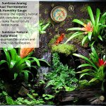 SunGrow-Water-Proof-Plastic-Boro-Analog-Dual-Thermometer-Humidity-Gauge-with-Night-Light-Submersible-Hygrometer-Temperature-Reader-Monitor-Reptiles-Habitat-Stand-ensures-Easy-Relocation-0-2