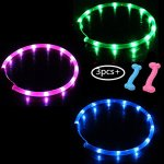 2-3-Pack-LED-Dog-Collar-With-Rubber-Teething-Chewing-USB-Rechargeable-Adjustable-Pet-Necklace-fit-11-20-for-Small-Medium-Large-Dogs-0