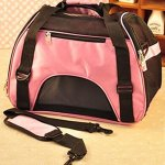 Aiermaisi-Breathable-Portable-Pet-Carrier-Outdoor-Bag-Mesh-Patchwork-Soft-sided-Pet-Carrier-Cats-Dogs-Travel-Crate-Tote-Pet-Bag-Size-S-Pink-0-0