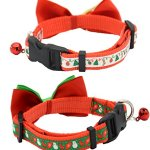 Alemon-2-Pack-Christmas-Santa-Snowman-Holiday-Xmas-Collar-for-Cats-Kitten-with-Bowtie-Adjustable-8-14-0