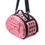 Alfie-Pet-by-Petoga-Couture-Lonnie-Travel-Carrier-Vacation-House-for-Small-Animals-Like-Dwarf-Hamster-and-Mouse-Color-Pink-Size-Small-0-0