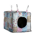 Amariver-Hammock-Hanging-Bed-Toy-House-Cage-for-Rabbit-Guinea-Pig-Ferret-Small-Animals-0-0