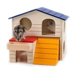 BWOGUE-Pet-Small-Animal-Hideout-Hamster-House-Deluxe-Two-Layers-Wooden-Hut-Play-Toys-Chews-0-0