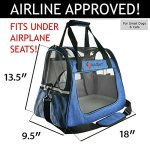 Ess-and-Craft-Pet-Carrier-2-Tone-Blue-Airline-Approved-Side-Loading-Travel-Bag-with-Sturdy-Bottom-Fleece-Bed-Ventilated-Pouch-with-Top-Comfy-Handle-Zipper-Locks-for-Dogs-Cats-Small-Pets-0-0