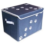 Feline-Ruff-Large-Dog-Toys-Storage-Box-16-x-12-inch-Pet-Toy-Storage-Basket-with-Lid-Perfect-Collapsible-Canvas-Bin-for-Cat-Toys-and-Accessories-Too-0