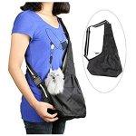 Hands-free-Travel-Portable-Small-Puppy-Pet-Dog-Cat-Carrier-Tote-Bag-Sling-Adjustable-Strap-Shoulder-Bag-Backpack-Summer-Cool-Breathable-Hammock-Soft-Sided-Carrier-Bed-Handbag-Cross-Body-Messenger-Bag-0