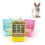 Hay-Food-Bin-Feeder-Small-Animal-Supplies-Rabbit-Chinchillas-Guinea-Pig-2-In-1-Feeder-Bowls-Double-use-for-Grass-and-Food-0