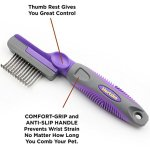 Hertzko-Rounded-Blade-Dematting-Comb-Round-Long-Blades-with-Safety-Edges-Great-for-Cutting-and-Removing-Dead-Matted-or-Knotted-Hair-0-2