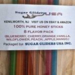 Honey-Sticks-Sugar-Glider-100-Pure-Super-Saver-48-Pack-8-Flavors-Bonding-Treat-0