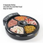 JEMPET-Automatic-Pet-Feeder-Cats-Dogs-5-Meal-Trays-Dry-Wet-Food-Auto-Pet-Food-Dispenser-Programmed-Timer-Voice-Recording-Function-5-x-240ml-0-1