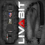 LIVABIT-Canine-Service-Dog-Tactical-Molle-Vest-Harness-Morale-PVC-Patches-Matching-Heavy-Duty-Bungee-Leash-Strap-Also-for-Cats-Puppies-0-0