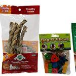 Oxbow-Higgins-Ware-Small-Animal-ChewsTreats-4-Flavor-Variety-Bundle-1-Each-Veggie-Stix-Timothy-Twists-Bag-O-Chews-Barley-Biscuits-0