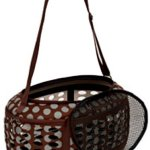 Petmate-21789-Curvations-Underseat-Small-Pet-Traveler-with-Dots-BrownGray-0-0