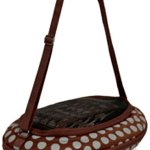 Petmate-21789-Curvations-Underseat-Small-Pet-Traveler-with-Dots-BrownGray-0-1