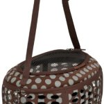 Petmate-21789-Curvations-Underseat-Small-Pet-Traveler-with-Dots-BrownGray-0
