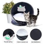 Petneces-Cat-Bed-Cave-with-Cushion-Cat-CarrierCat-Tunnel-Small-Animal-Sleep-Zone-Foldable-Pet-Winter-Play-Tent-for-Home-or-Outdoor-Travel-0-2