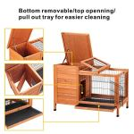Petpark-Rabbit-HutchWood-Bunny-Cage-House-Rabbit-Cage-Chicken-coop-Pet-Cage-Indoor-for-Small-Animals-0-1